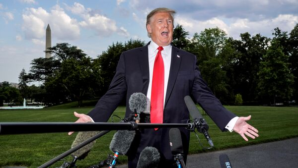 U.S. President Donald Trump speaks to the media as he departs for a campaign rally from the White House in Washington, U.S., May 20, 2019 - Sputnik International