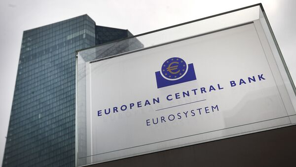 This file photo taken on September 13, 2018 shows the headquarters of the European Central Bank (ECB) in Frankfurt am Main, western Germany. - Sputnik International