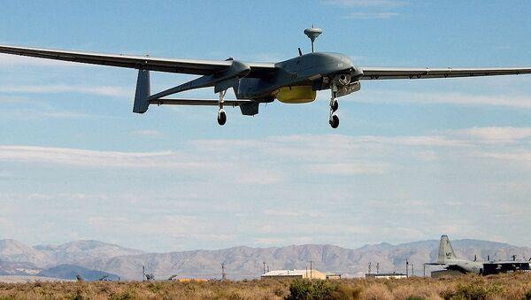 IDF's IAI Heron 1 UAV in flight. File photo - Sputnik International