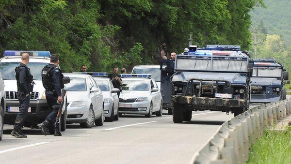 Kosovo police secure the area near the town of Zubin Potok, Kosovo, May 28, 2019 - Sputnik International