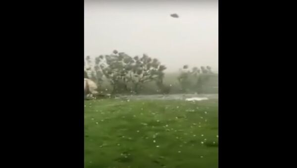 Extreme hailstorm in Romania - Sputnik International