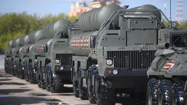 Russian S-400 Triumf surface-to-air missile systems  - Sputnik International