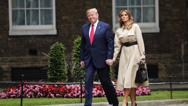 President Donald Trump and first lady Melania arrive in Downing Street in central London, Tuesday, June 4, 2019 - Sputnik International