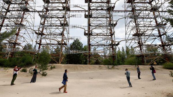 Советская загоризонтная радиолокационная станция Дуга у Чернобыльской АЭС  - Sputnik International