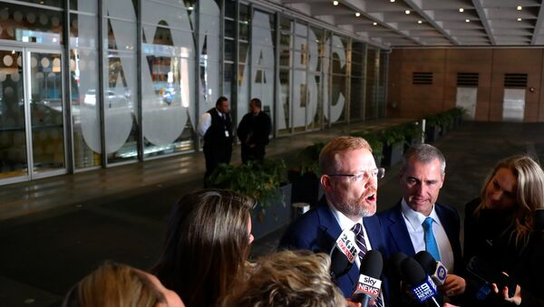 Editorial Director of the ABC Craig McMurtie speaks to members of the media outside the ABC building located at Ultimo in Sydney - Sputnik International