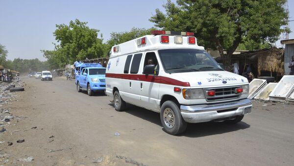 An ambulance and security cars in Maiduguri, Nigeria - Sputnik International