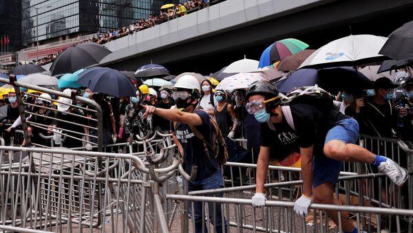 Demonstration against a proposed extradition bill in Hong Kong - Sputnik International