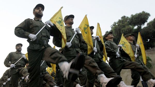 FILE - In this Nov. 12, 2010 file photo, Hezbollah fighters parade during the inauguration of a new cemetery for their fighters who died in fighting against Israel, in a southern suburb of Beirut, Lebanon - Sputnik International