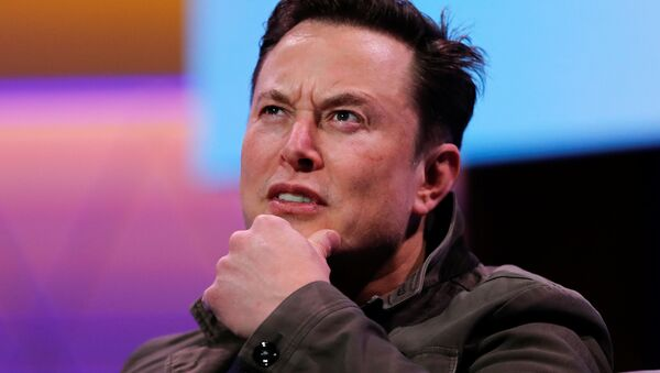 SpaceX owner and Tesla CEO Elon Musk gestures during a conversation with legendary game designer Todd Howard (not pictured) at the E3 gaming convention in Los Angeles, California, U.S., June 13, 2019 - Sputnik International