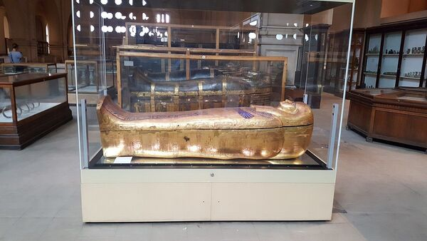 Sarcophagi of Yuya and Tjuyu. Egyptian Museum (Cairo) - Sputnik International