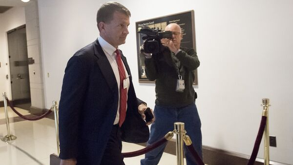 Erik Prince, former Navy Seal and founder of private military contractor Blackwater USA, arrives to testify during a closed-door House Select Intelligence Committee hearing on Capitol Hill in Washington, DC, November 30, 2017. - Sputnik International
