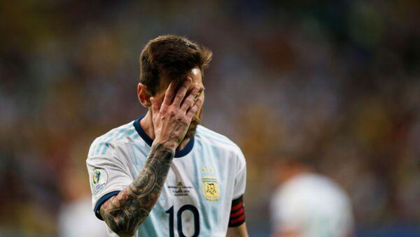 The captain of the Argentina national football team, Lionel Messi - Sputnik International