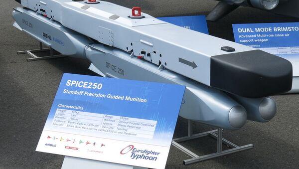 Quad rack with 4x Rafael SPICE 250 glide bomb (mockup) - Sputnik International
