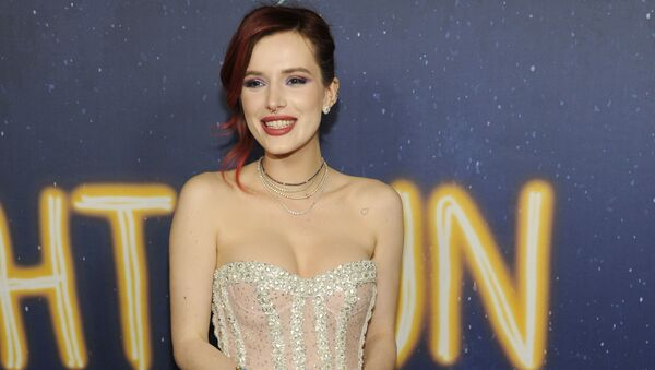 Bella Thorne, a cast member in Midnight Sun, poses at the premiere of the film at the ArcLight Hollywood on Thursday, March 15, 2018, in Los Angeles - Sputnik International