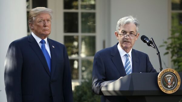 Jerome Powell speaks after President Donald Trump announced him as his nominee for the next chair of the Federal Reserve - Sputnik International
