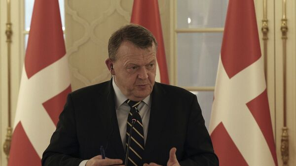 Former Danish Prime Minister Lars Lokke Rasmussen speaks to the media (File) - Sputnik International