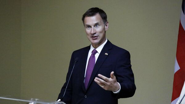 Britain's Secretary of State Jeremy Hunt, speaks in a press conference with Kenya Cabinet Secretary for Foreign Affairs Monica Juma, during his official visit, in Nairobi, Kenya, Friday, May 3, 2019 - Sputnik International