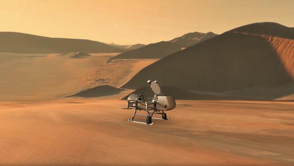 New Dragonfly Mission Flying Landing Sequence Animation - Sputnik International