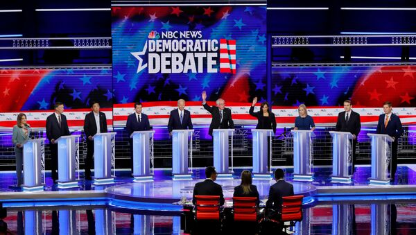 Candidates debate during the second night of the first U.S. 2020 presidential election Democratic candidates debate in Miami, Florida - Sputnik International