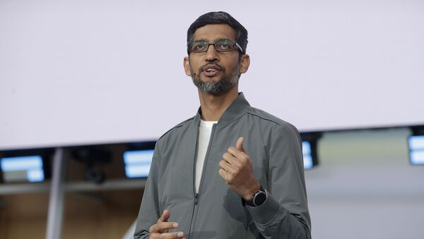 FILE - In this 7 May 2019 file photo, Google CEO Sundar Pichai speaks during the keynote address of the Google I/O conference in Mountain View, California. - Sputnik International