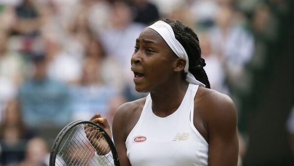 United States' Cori Coco Gauff Against the United States's Venus Williams - Sputnik International