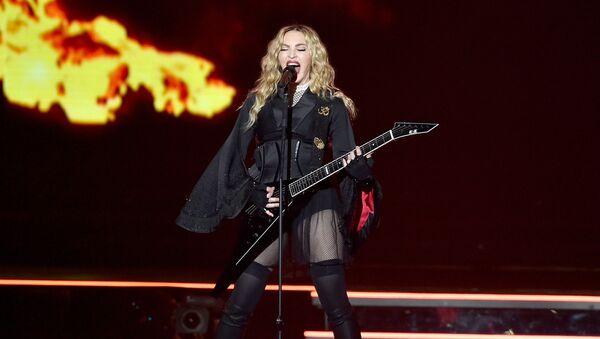 INGLEWOOD, CA - OCTOBER 27: Singer Madonna performs during her 'Rebel Heart' tour at the Forum on October 27, 2015 in Inglewood, California. - Sputnik International