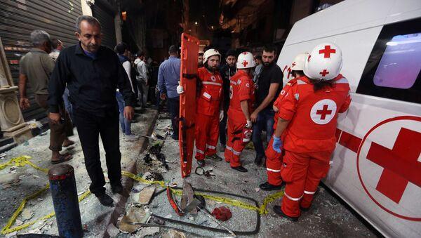 Lebanese Red Cross responders (File) - Sputnik International