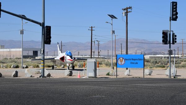 This photo shows the entrance to the Naval Air Weapons Station China Lake in Ridgecrest, California, on July 4, 2019. - Sputnik International