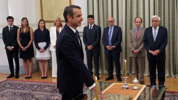 Swearing-in ceremony for Greek Prime Minister-elect Mitsotakis, in Athens - Sputnik International