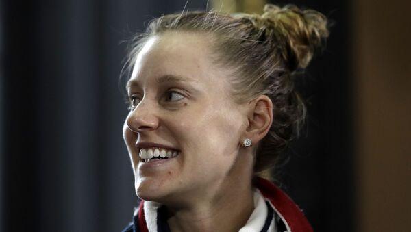 US tennis player Alison Riske smiles in Prague, Czech Republic - Sputnik International