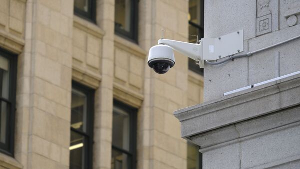 In this photo taken Tuesday, May 7, 2019, is a security camera in the Financial District of San Francisco. San Francisco is on track to become the first U.S. city to ban the use of facial recognition by police and other city agencies as the technology creeps increasingly into daily life.  - Sputnik International