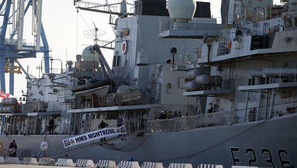 British warship HMS Montrose - Sputnik International