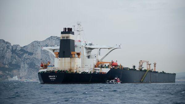 A picture shows supertanker Grace 1 off the coast of Gibraltar on July 6, 2019 - Sputnik International