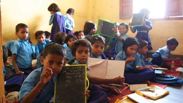 Indian children at school - Sputnik International