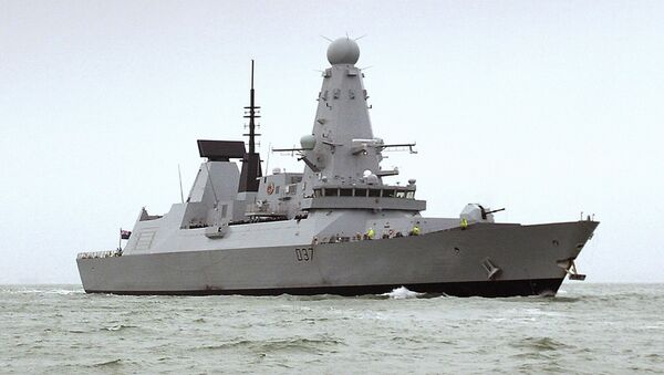 """The HMS Duncan, a Type 45 Destroyer will relieve the HMS Montrose in the region as Iran threatens to disrupt shipping. Iran on Friday, 12 July 2019 demanded that the British navy release an Iranian oil tanker seized last week off Gibraltar, accusing London of playing a """"dangerous game"""" and threatening retribution - Sputnik International"""