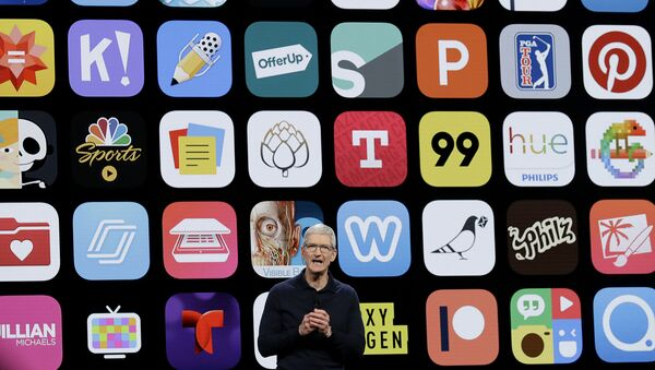 Apple CEO Tim Cook speaks during an announcement of new products at the Apple Worldwide Developers Conference in San Jose, Calif. - Sputnik International