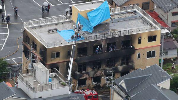 The burnt out KyoAni building in Kyoto - Sputnik International