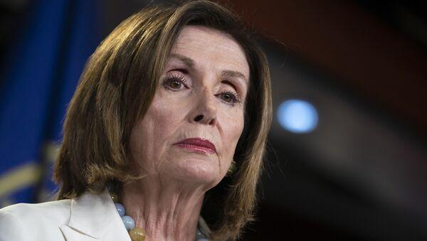 Speaker of the House Nancy Pelosi, D-Calif., holds a news conference on Capitol Hill in Washington, Wednesday, July 17, 2019 - Sputnik International