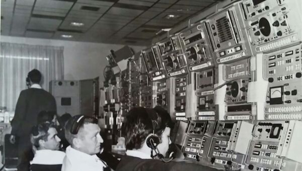 1968, Fresnedillas NASA tracking station. In the foreground: Carlos Gonzalez, the only Spaniard among the Americans - Sputnik International