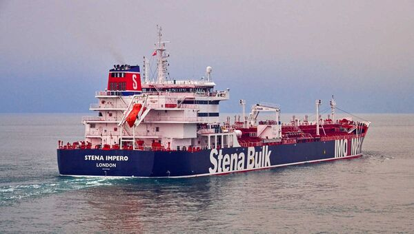 Undatedhandout photograph shows theStenaImpero, a British-flagged vessel owned byStenaBulk, at anundisclosedlocation, obtained by Reuters on July 19, 2019.  - Sputnik International
