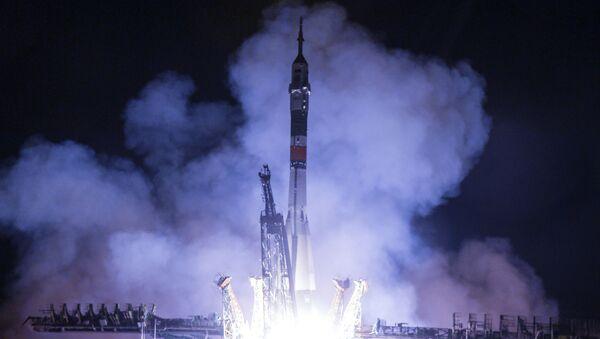 Rocket carrying MS-13 spacecraft launching from the Baikonur cosmodrome in Kazakhstan. - Sputnik International