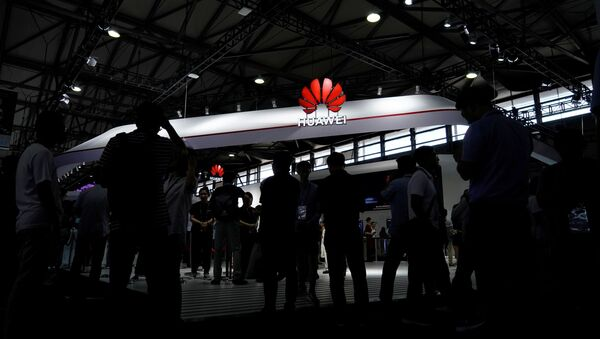 A Huawei logo is pictured at Mobile World Congress (MWC) in Shanghai, China June 28, 2019 - Sputnik International