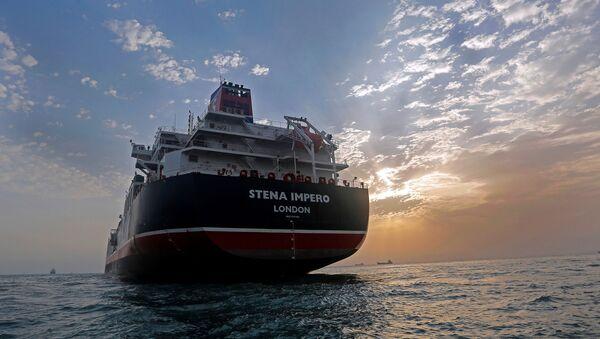Stena Impero, a British-flagged vessel owned by Stena Bulk, is seen at Bandar Abbas port, July 21, 2019. - Sputnik International