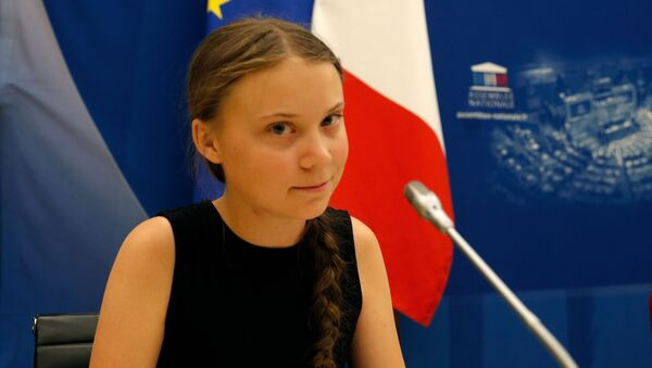 Swedish environmental activist Greta Thunberg attends a debate with French parliament members at the National Assembly in Paris, France, July 23, 2019 - Sputnik International