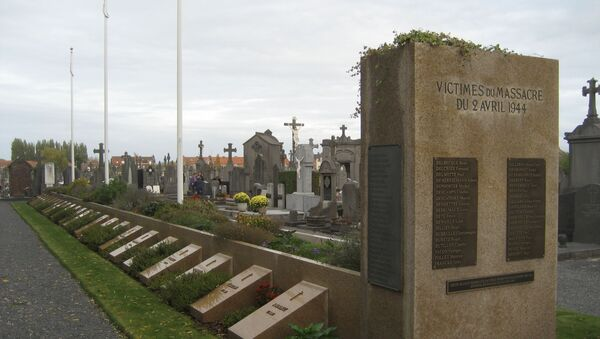 Memorial for the 86 men killed in Ascq massacre on 1 April 1944 in Ascq, France, by the Waffen-SS during the Second World War. - Sputnik International
