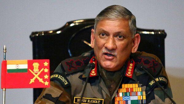 The Chief of Army Staff, General Bipin Rawat - Sputnik International