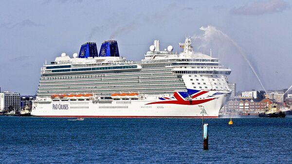 P&O cruise ship Britannia arriving for the first time in Southampton Docks - Sputnik International