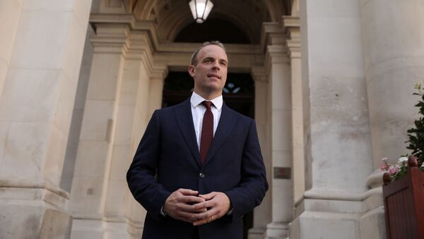 Dominic Raab is seen at the Foreign and Commonwealth building after being appointed as the Foreign Secretary by Britain's new Prime Minister Boris Johnson in London, Britain, July 24, 2019 - Sputnik International