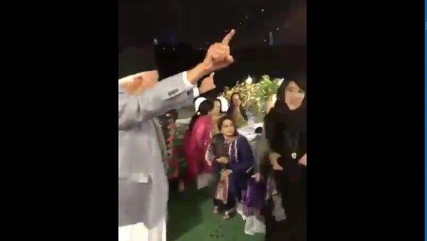 Screenshot of a video showing Kashmiri leader Farooq Abdullah dancing  - Sputnik International