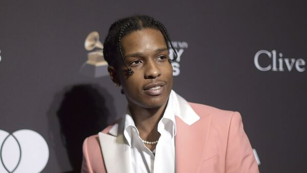 This Feb. 9, 2019 file photo shows A$AP Rocky at Pre-Grammy Gala And Salute To Industry Icons in Beverly Hills, Calif. The American rapper, whose name is Rakim Mayers, was ordered held by a Swedish court Friday, July 5, for two weeks in pre-trial detention while police investigate a fight on Sunday in central Stockholm - Sputnik International